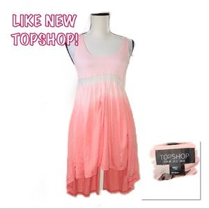 • TOPSHOP | LIKE NEW | Ombre High Low Mini •